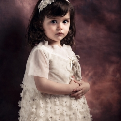 Christening Baptism Athens Greece studio portrait Girl