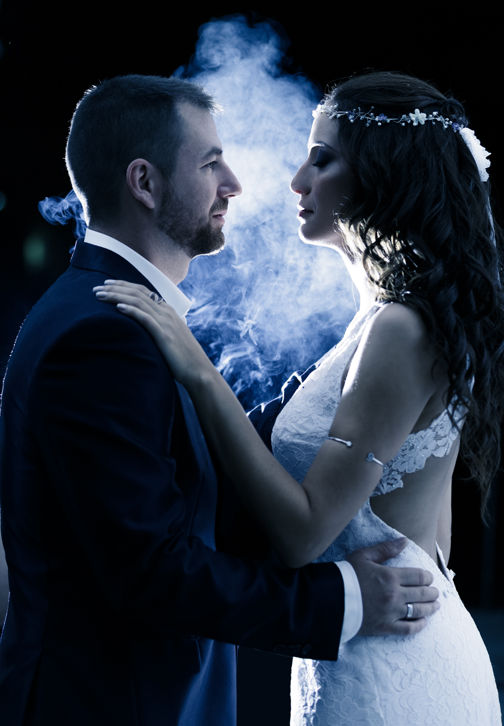 Wedding Athens Couple Groom Bride Smoke