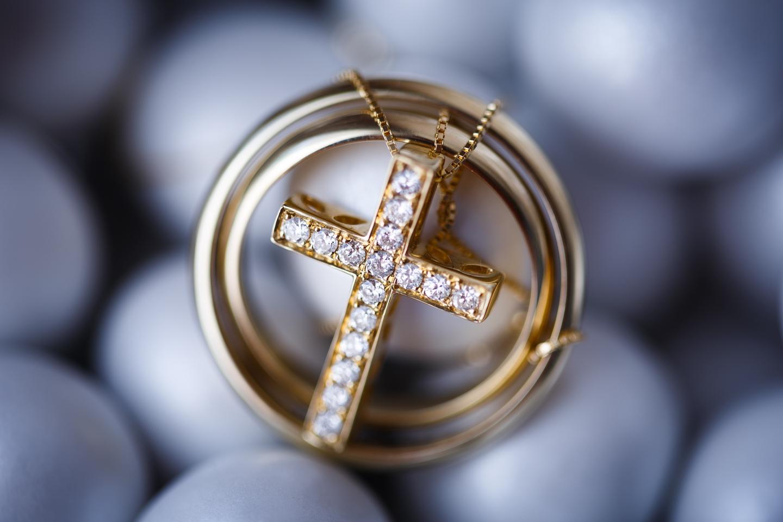 Wedding Athens Rings Details Cross Baptism Christening