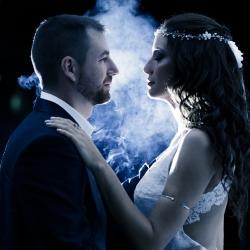 Wedding Athens Couple Groom Bride Smoke